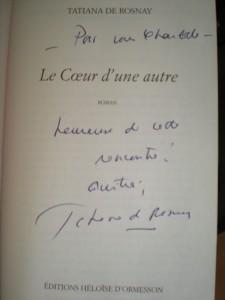Dédicace de Tatiana de Rosnay - Le coeur d'une autre