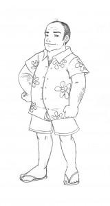Adrien - Croquis d'Alice Charreton